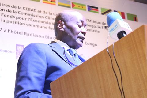 SEM Pacôme MOUBELET-BOUBEYA, ministre d'Etat, ministre de la Forêt, de la mer et de l'environnement de la République Gabonaise