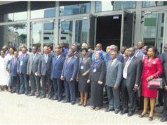 Photo de famille des officiels lors de la Cérémonie d'ouverture du Segment ministériel